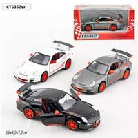 """Машина металлическая """"KINSMART """" KT5352W """"2010 Porsche 911 GT3 RS """" в коробке"""