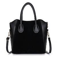 Черная сумка   LINLANYA HOT с замшевой вставкой.