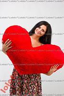 Большое мягкое плюшевое сердце подушка 50 см