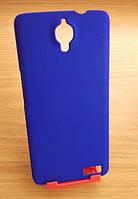 Чехол бампер синий Alcatel Idol TCL S950