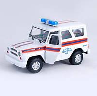 "Машина на батарейках 9076-F  ""Служба спасения "", звук, свет, в коробке 21*11*11см"