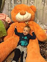 Огромный плюшевый медведь Тедди: карамельный 200 см