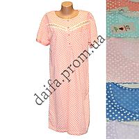 Женская котоновая ночная рубашка (БАТАЛ) D24  оптом со склада в Одессе.