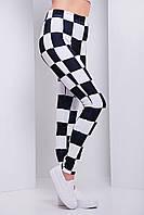 Лосины черно-белые женские  Шахматы