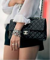 Эффектная сумочка Chanel Classic натуральная кожа (реплика), фото 1