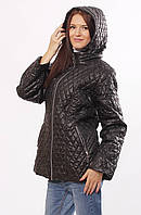 Женская демисезонная куртка  Murenna черная 54-72 размеры