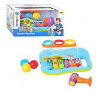 Игра 9199 развивающая музыкальная игрушка ксилофон с молоточком