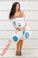 Большой плюшевый мишка, медведь Тедди 100см белый