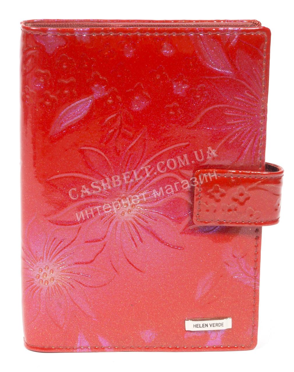 Стильная лаковая кожаная документница высокого качества H.VERDE art. HV-27 красный