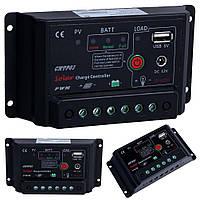Контроллер заряда 10A с 5В USB выходом и 12В разъемом