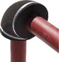 FOAMGLAS ® в виде колена - скорлупы для изоляции трубопроводов.
