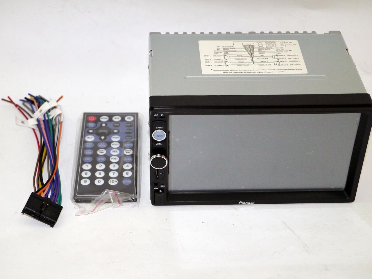 "2Din Pioneer 8702 7""Экран Магнитола USB + Видео вход для камеры"