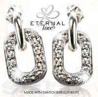 Шикарные серьги AVON ETERNAL Love с камнями Swarov