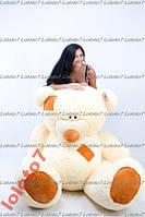 Большой плюшевый мишка, медведь Тедди 250см крем