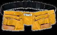 Пояс для инструмента кожаный, 10 отделений TECHNICS