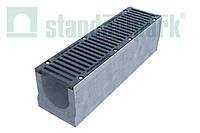 Комплект: Бетонный лоток серии Maxi DN200 с чугунной решеткой кл. E