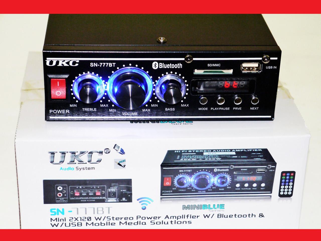 UKC SN-777BT Bluetooth Стерео підсилювач