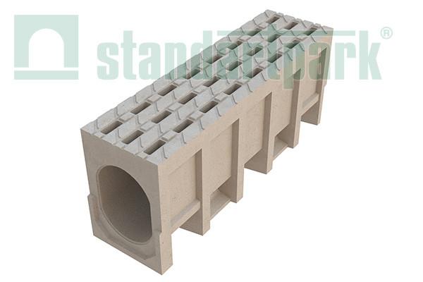 Блок монолитный БМВ-20.29.41-П ячеистый полимербетонный