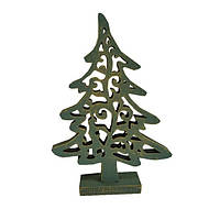 Декоративная игрушка Елка винтаж зеленая