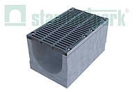 Комплект: Бетонный лоток серии Maxi DN500 с чугунной решеткой кл. E