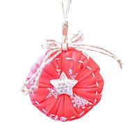 Подвеска новогодняя ТМ Прованс Декоративная игрушка Шар красный