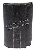 Стильна компактна міцна надійна шкіряна ключниця FRANDIAR art. FD04-468A чорний