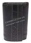 Стильная прочная компактная надежная кожаная ключница FRANDIAR art. FD04-468A черный