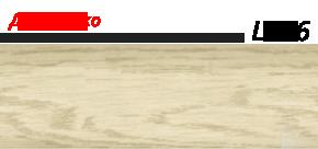 Плинтус напольный 58 мм Lineplast l026 дуб мокко