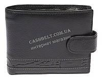 Прочный небольшой мужской кошелек из натуральной качественной кожи FRARDIAR art. FD04-594A черный