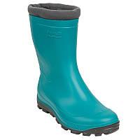 Зимние резиновые сапоги детские, чоботи гумові Solognac Glenarm бирюзовые