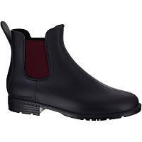 Резиновые сапоги женские, чоботи гумові Fouganza SCHOOLING 100 черно-бордовие
