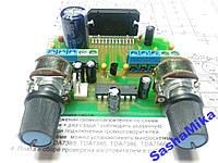 УНЧ с предусилителем и регуляторами громкости TDA7384, 4*40Вт