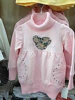 Детская одежда оптом Платье туника для девочек оптом р.104-122, фото 1