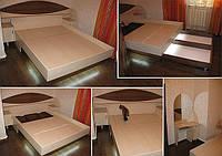 Кровать из ЛДСП с подсветкой