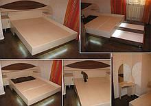 Ліжко з ЛДСП з підсвічуванням