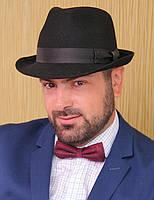 Мужская  шляпа из фетра  маленькие  поля