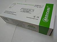 Перчатки нитриловые нестерильные хлорированные текстурированные неопудренные / размер М  / Medicare, фото 1