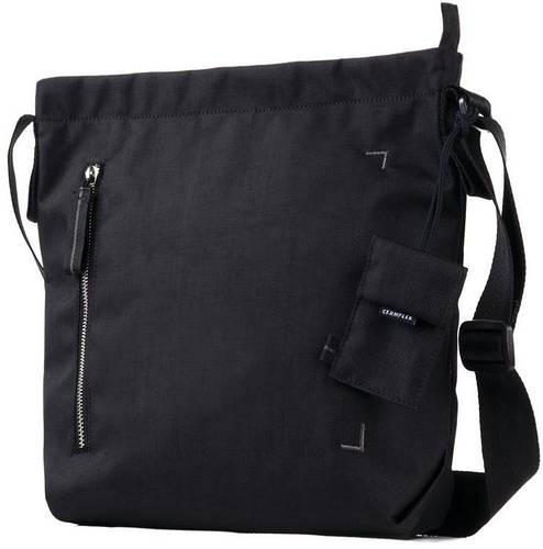 Компактная мужская сумка для планшета 10 Crumpler Doozie Shoulder S (black/metallic silver) DZS-S-007 черный