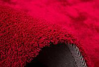Однотоный красный ковер, мягкие ковры, фото 1