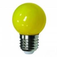 Лед лампа светодиодная жёлтый шар G45 1,2W Е27 Lemanso LM705