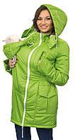 Зимняя куртка для беременных и слингоношения 4в1, зеленая, фото 1