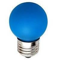 Лед лампа светодиодная синий шар G45 1,2W Е27 Lemanso LM705