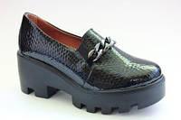 Кожаные туфли на платформе (Украина) 40р.