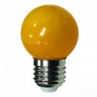Лед лампа светодиодная оранжевый шар G45 1,2W Е27 Lemanso LM705