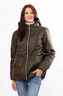 Женская демисезонная куртка  Murenna матовая хаки  32-72 размеры