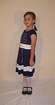 Дитячий сукні Шанель темно-синьо, фото 3