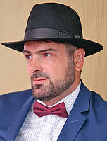 Мужская  шляпа из фетра с лентой цвета под заказ
