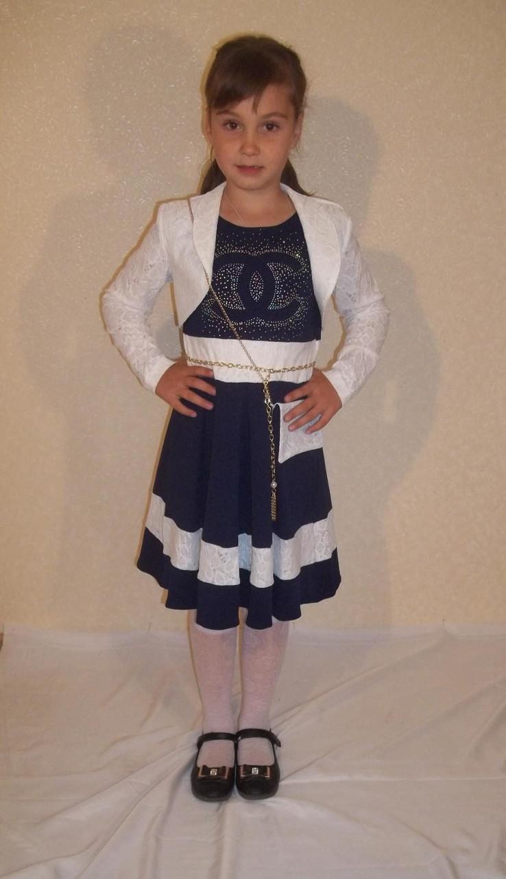 Дитячий сукні Шанель темно-синьо