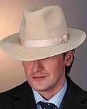 Чоловічий капелюх з фетру зі стрічкою кольору під замовлення, фото 2
