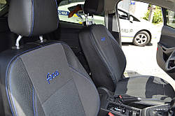Чехлы модельные комбинированые Toyota Yaris 2013->